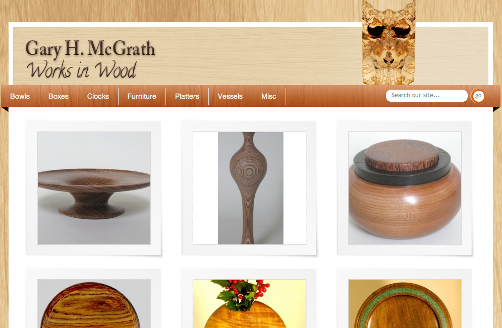 Fine woodwork craftsman website