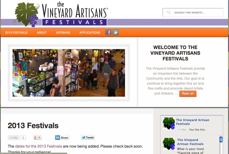 Artisans Festival Website